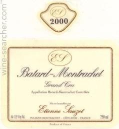 2017 Batard-Montrachet Grand Cru, Etienne Sauzet