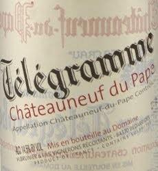 Telegramme Chateauneuf-du-Pape 2018. Domaine du Vieux Télégraphe