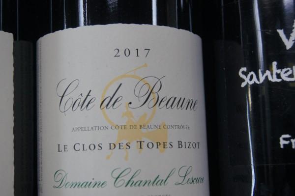 Cote de Beaune Rouge Clos des Topes Bizot 2017