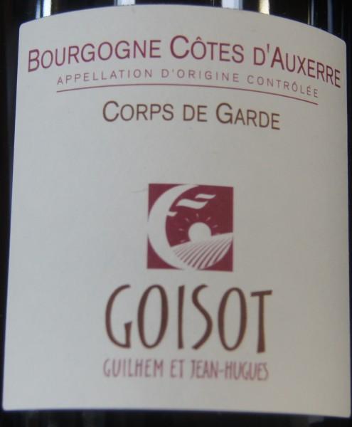 Bourgogne Côtes d'Auxerre Corps de Garde 2018 Domaine G. et J.-H. Goisot