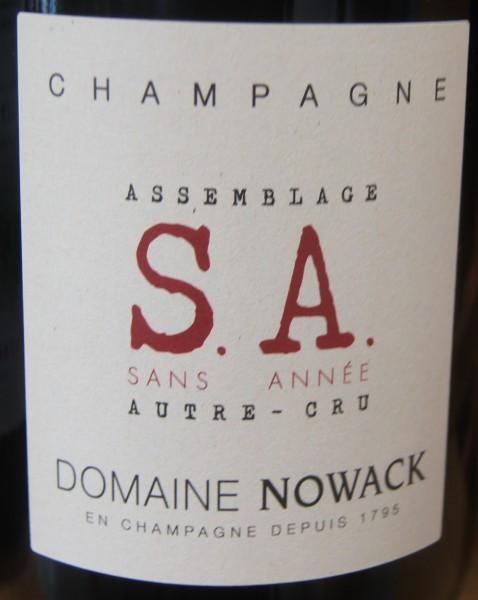Sans Annee S.A. Extra Brut AC Domaine Nowack