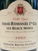 2018 Domaine Bruno Clavelier Vosne-Romanee Les Beaux Monts Vieilles Vignes 1er Cru